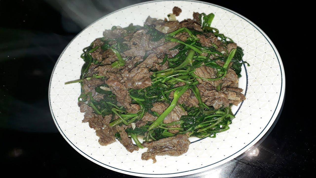Rau muống xào thịt bò món chuẩn ngon!