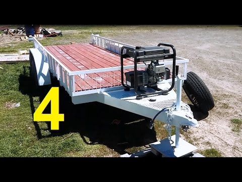 Flatbed Trailer Build From A Salvaged Rv Frame Pt 4 The Emma 1 Youtube