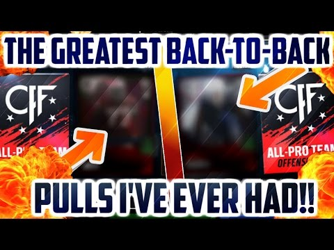 "THIS IS UNBELIEVABLE!! UNREAL BACK-TO-BACK ALL PRO MADDEN MOBILE PULLS + ""EA"" WATCHES MY CHANNEL?!"