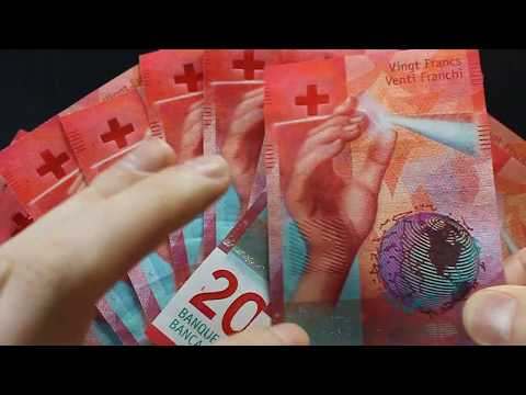 Error note!  Swiss Franc new 20 note missing hologram!!  Extremely rare.