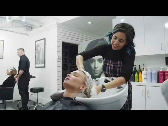 Phillip Rosado highlight video using LOreal serie expert and next day hair.