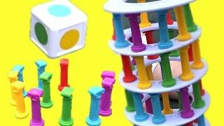 Челлендж СУПЕР БАШНЯ - Веселая развивающая игра для детей Играем с семьёй Play toys with family