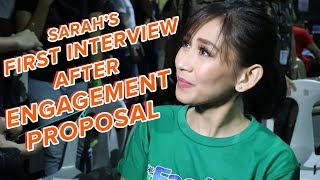WATCH: Sarah Geronimo's first interview after engagement announcement | One Music PH