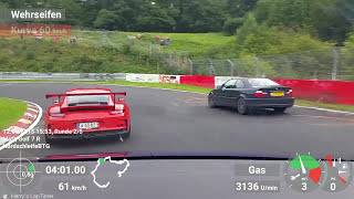 Golf 7 R & Golf 6 R ('Monster') vs. some Porsche & M3 - Nordschleife [BtG] 12.09.15 - Crashed Megane