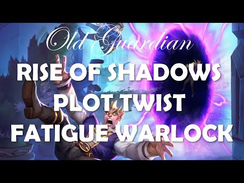 Plot Twist Fatigue Warlock gameplay (Hearthstone Rise of Shadows deck)