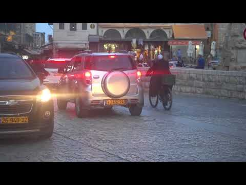 20180521 19:35 with electric bicycles to the Wailing Wall Jerusalem old city 0:22