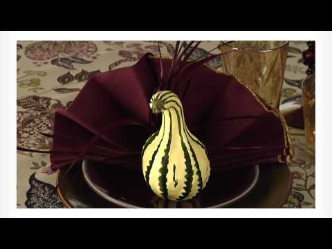 Easy Napkin Design - Thanksgiving Turkey Napkin