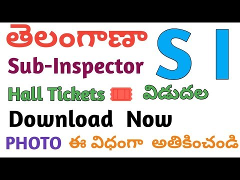 TELANGANA SI HALL - TICKETS DOWNLOAD NOW . TS SI ADMIT CARDS DOWNLOAD NOW