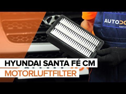 Sådan udskifter du motorluftfilter på HYUNDAI SANTA FÉ CM  [GUIDE]