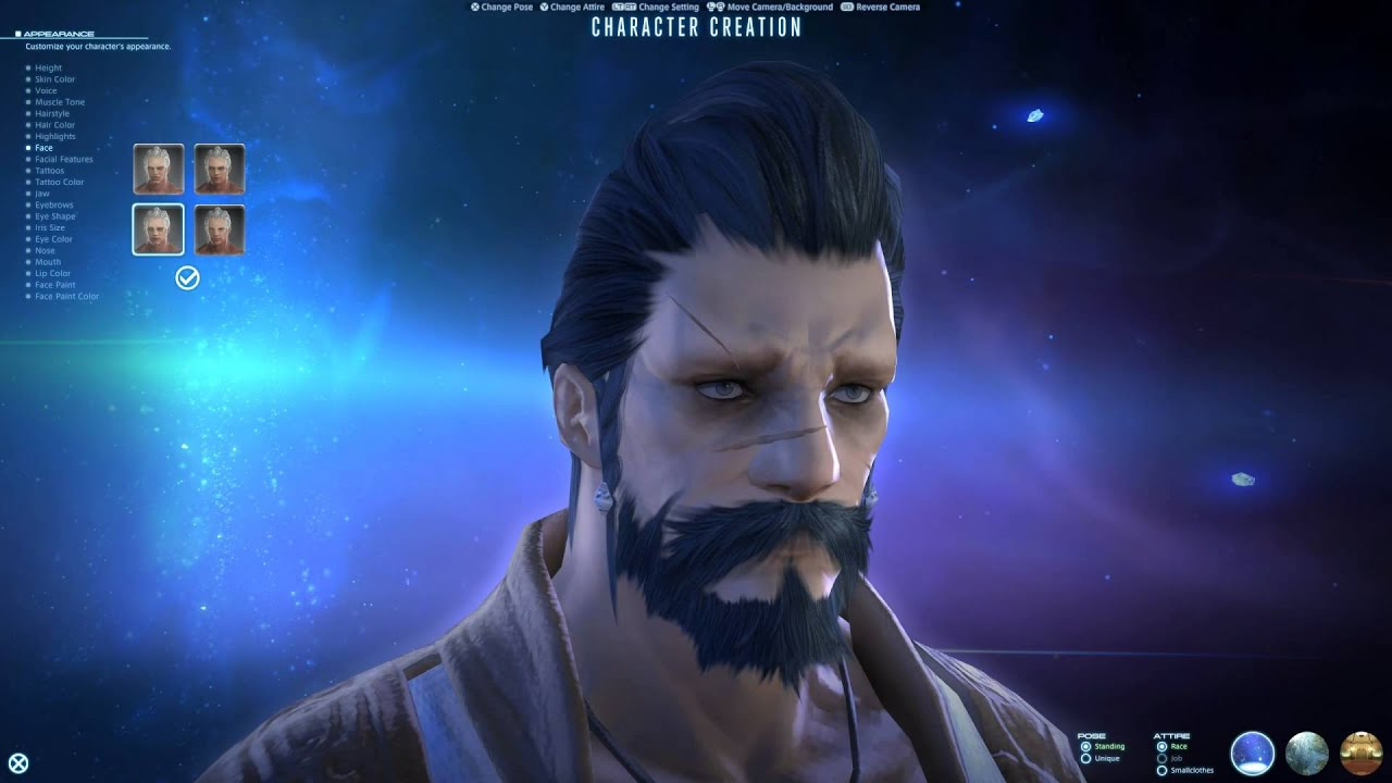 Final Fantasy XIV Male Hyur Highlander Character Creation