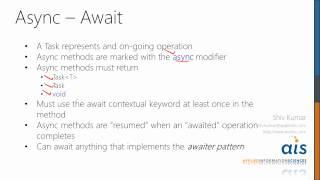 Async Await in C# 5 Part 2