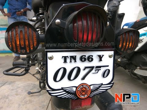 007 Number Plate | Bullet Number Plate Modified