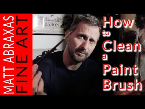 How to Clean a Paint Brush for Oil Painting - Art Tips by Matt Abraxas
