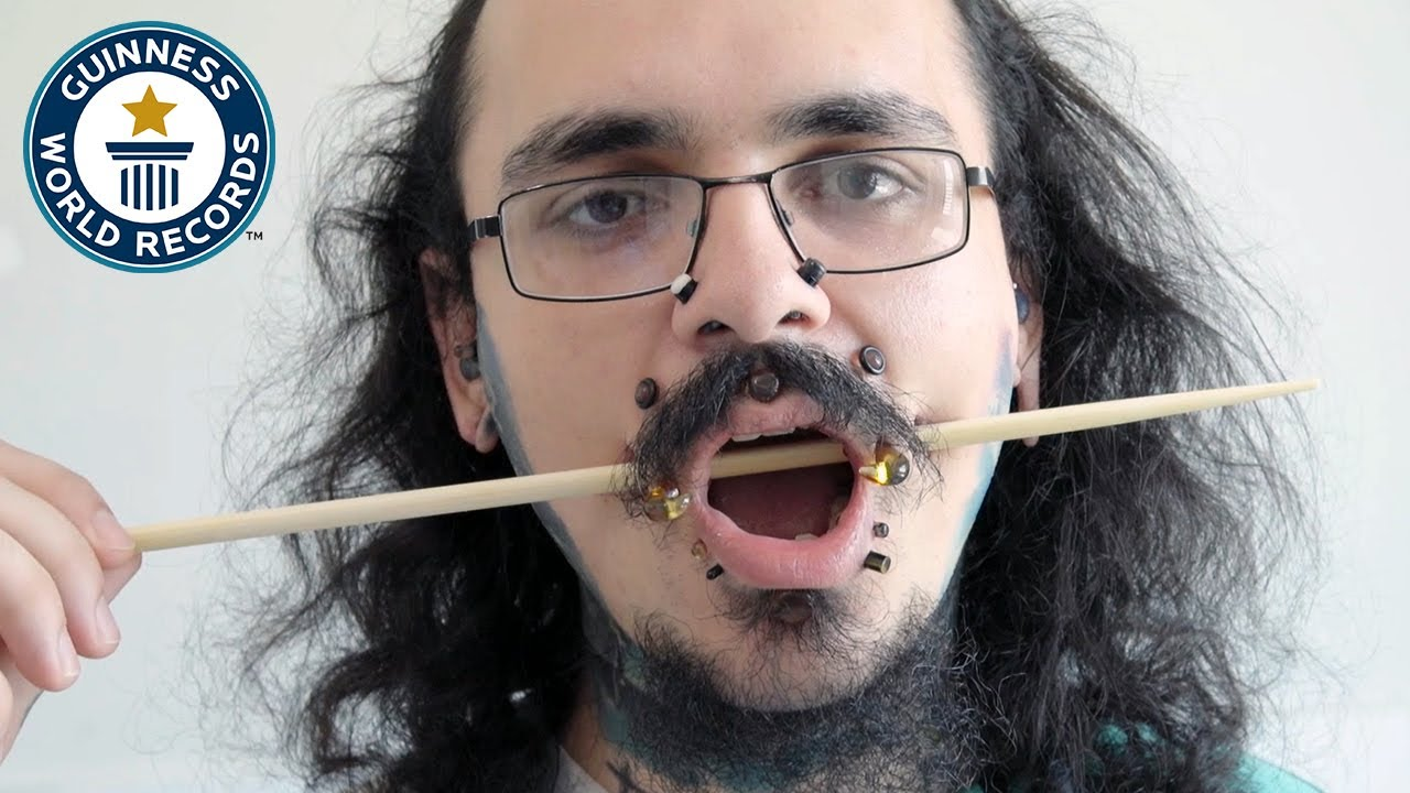 My 14 face tunnels give me confidence! - Guinness World Records