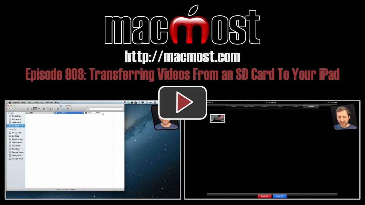 Transferring Videos From an SD Card To Your iPad (MacMost Now 908)
