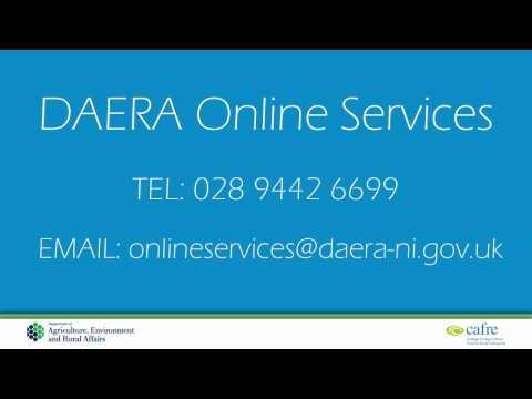 DAERA Online Services registration