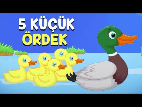 Beş Küçük Ördek - Sayıları Öğreten Çocuk Şarkısı