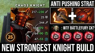 how to Play Chaos Knight Against Split Pushing Enemy with Battlefury 1Hit K.O illusions Cleave DotA2