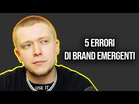 5 ERRORI DI BRAND EMERGENTI