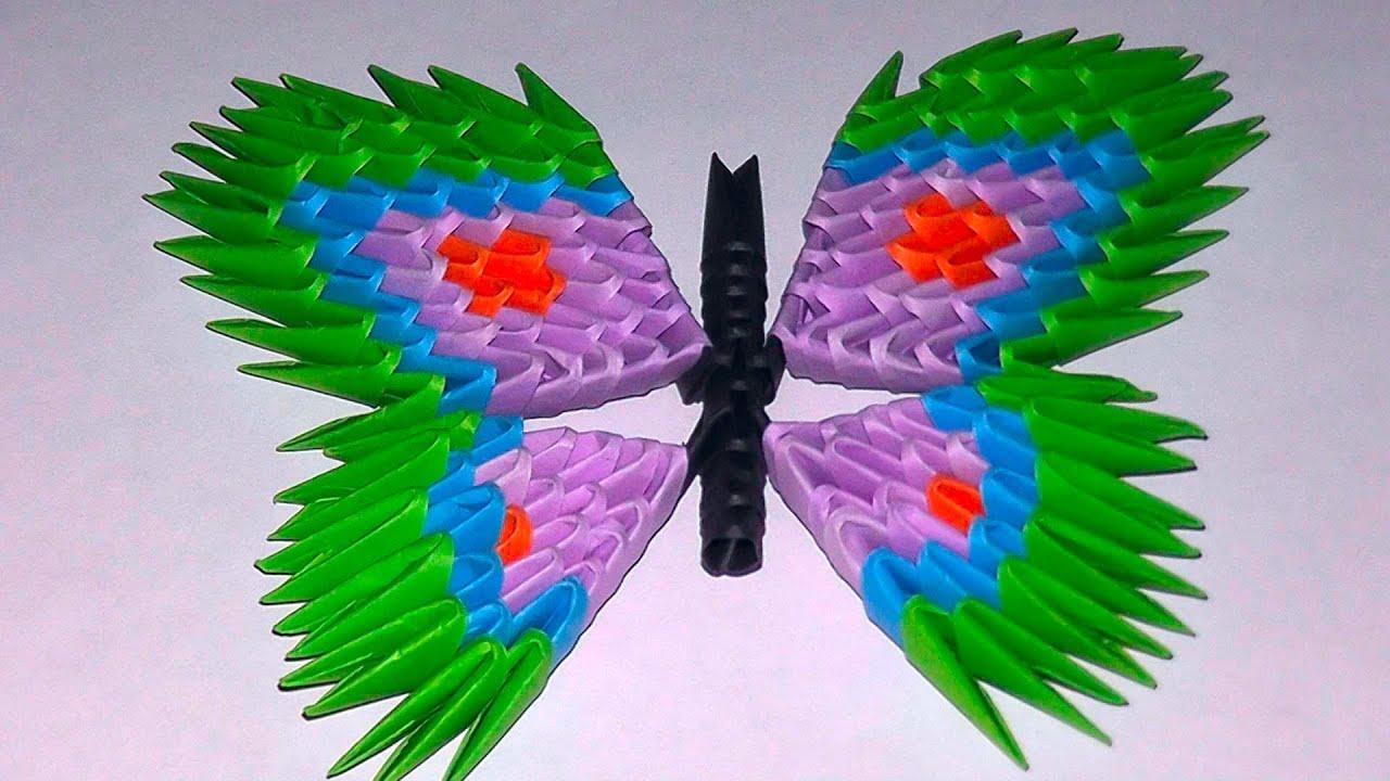 Как сделать бабочку из модульного оригами схема 751