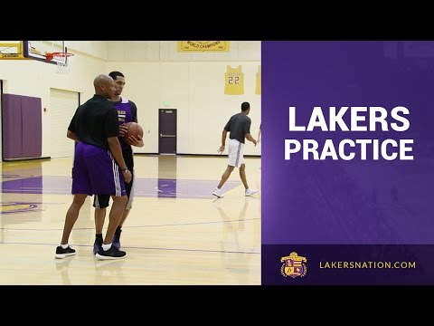 Lakers Practice Footage: Byron Scott Hands On With Jordan Clarkson