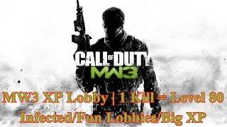 MW3 XP And Gold Guns Lobby | 1 Kill = Level 80 | XBOX360