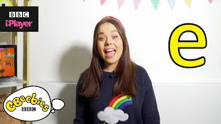 "Learn letter ""e"" with Evie and Dodge 