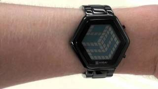Kisai 3D Unlimited Mirrored Colored LCD Watch Design From Tokyoflash Japan