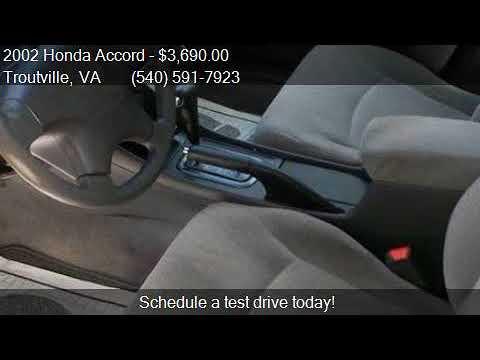 2002 Honda Accord LX 4dr Sedan for sale in Troutville, VA 24