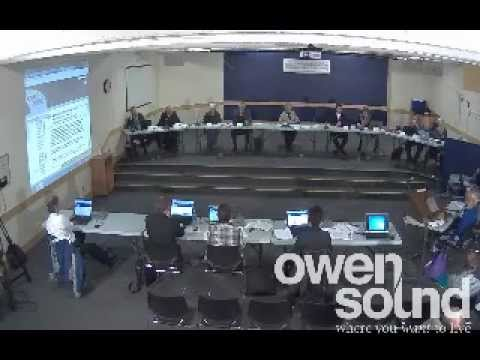 City of Owen Sound Dec. 3rd, 2012 Council Meeting