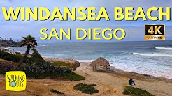 Windansea Beach in La Jolla, CA| Surfing | Fishing | San Diego | 4K Walking Tour