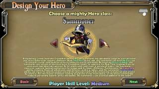 dungeon defenders character selection