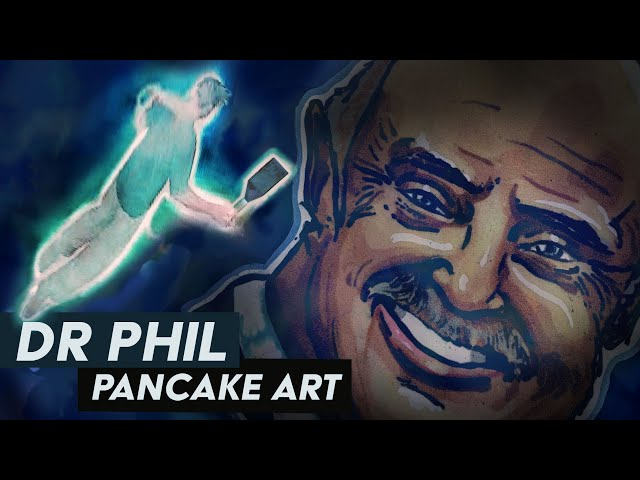 Dr. Phil (Cursed) Pancake Art | #Shorts