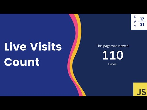 Live Visits Counter - JavaScript Tutorial - Day 17
