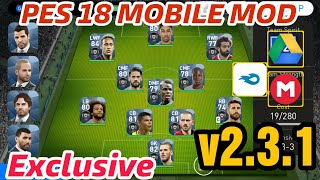 PES 18 MOBILE MOD v2.3.1 Exclusive