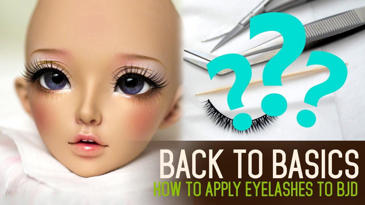 155379a32d7 How to apply eyelashes - Back to Basics ep02 - YouTube