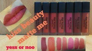 how to apply matte lipsticks//kiss beauty matte lipsticks//pakistani products//urdu/hindi