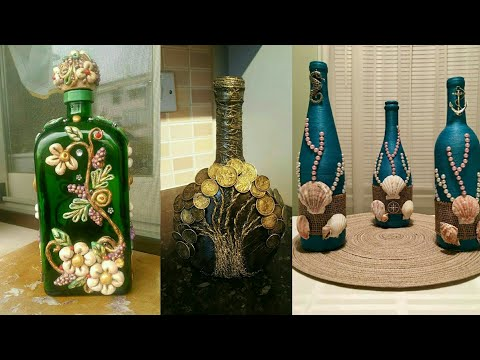 50 DIY Waste Glass Bottle Decoration||Bottle Craft Idea's||Wine Christmas Bottle Craft Idea's.