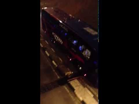 Chelsea player bus at Shah Alam , Malaysia 21-7-2013