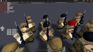 Roblox-A part of parade for British forces