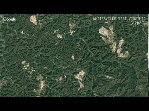 Google Timelapse: Whitesville, West Virginia