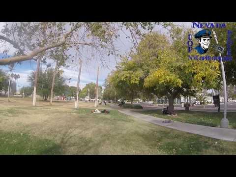 Las Vegas City Marshals Arrest a Homeless Man at Huntridge Circle Park