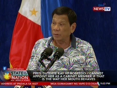 SONA: Pres. Duterte kay VP Robredo: I cannot appoint her as a cabinet member if that is the way...
