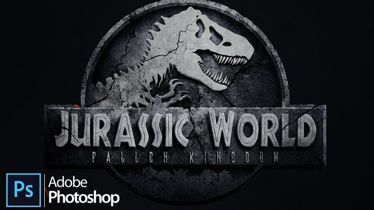 Jurassic World Fallen Kingdom Logo Design In Adobe Photoshop Youtube Download the vector logo of the jurassic world brand designed by in encapsulated postscript (eps) format. jurassic world fallen kingdom logo design in adobe photoshop