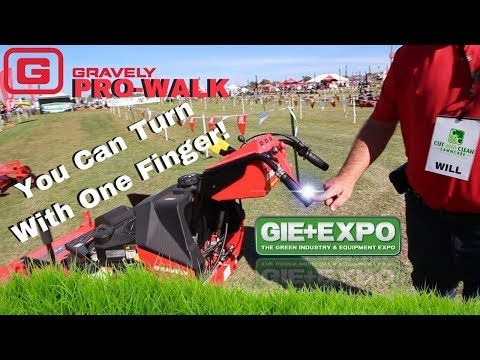 Gravely Pro-Walk Mower New For 2017/2018 GIE+EXPO!