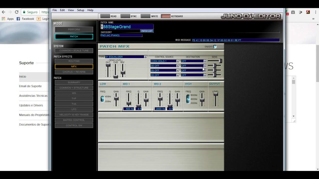 Juno-Di Editor PT1(Modo Patch) - YouTube