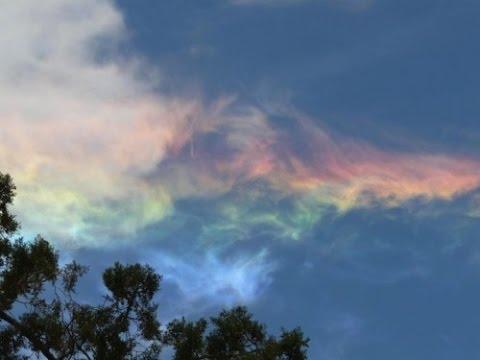 Rare Fire Rainbow Phenomena known as a Circumhorizontal Arc