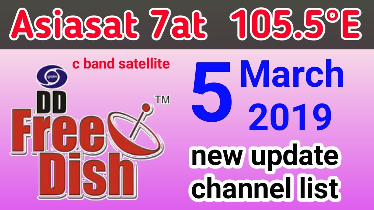 Asiasat 7 at 105 5°E new update channel list | Dish Tech - VidVui