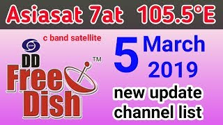 See asiasat 7 e 105 5 ° and free to air channels