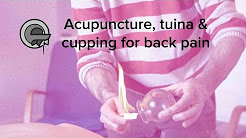 Acupuncture, tuina (Chinese massage) and cupping for back pain